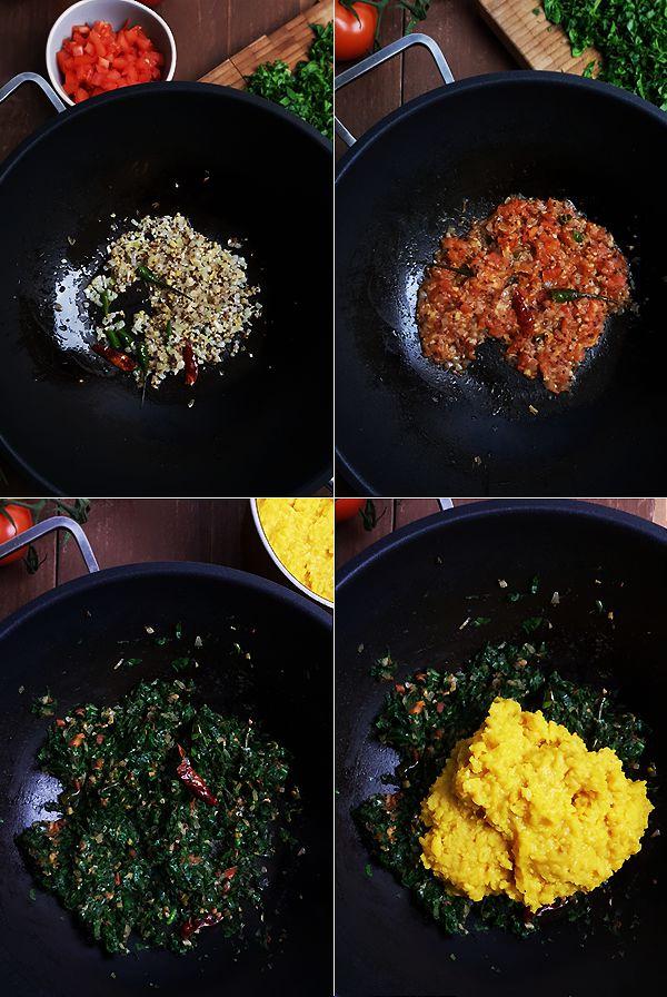 Bereiding van linzencurry met spinazie | Gewooneenfoodblog.nl