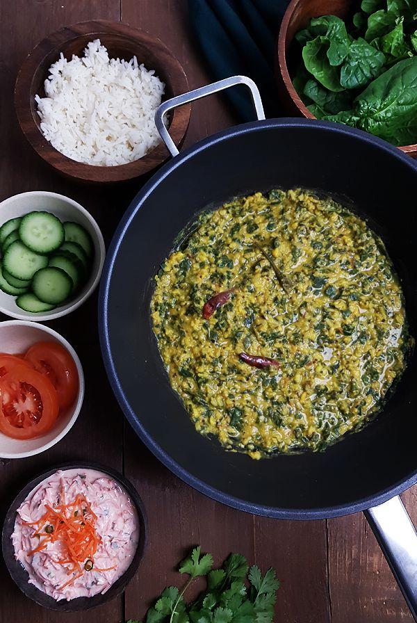 Linzencurry met spinazie recept | Gewooneenfoodblog.nl