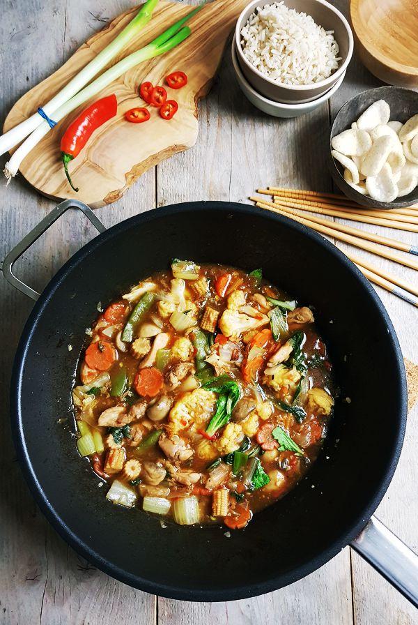 Pan vol Indische gemengde groenten | Gewoon een foodblog!