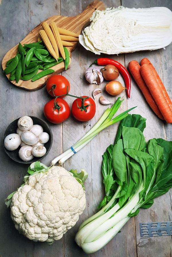 Ingrediënten Indonesische gemengde groenten | Gewooneenfoodblog.nl