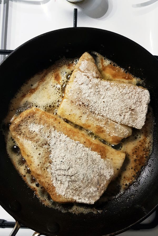 Kabeljauw a la Meunière bakken | Gewooneenfoodblog.nl
