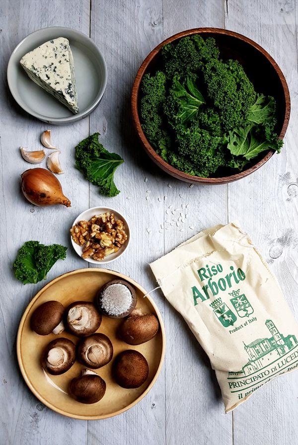Ingrediënten risotto met boerenkool en champignons | Gewooneenfoodblog.nl