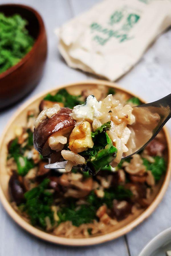 Risotto met boerenkool, champignons en Blue Danish | Gewoon een foodblog!