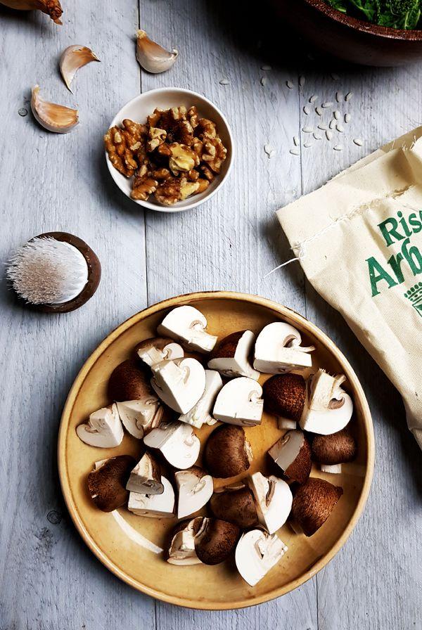 Risotto met boerenkool en kastanjechampignons | Gewooneenfoodblog.nl