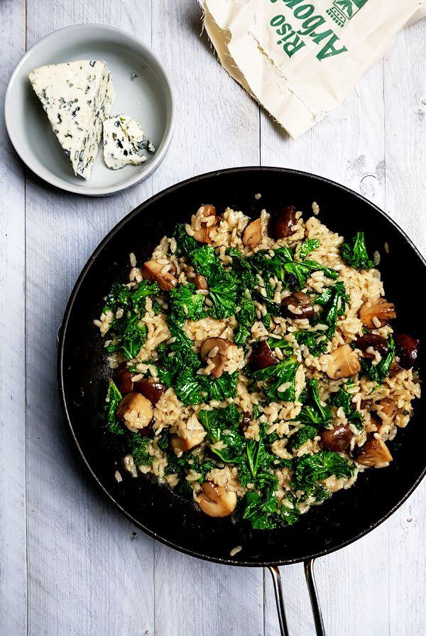 Risotto met boerenkool, champignons en kaas maken | Gewoon een foodblog!