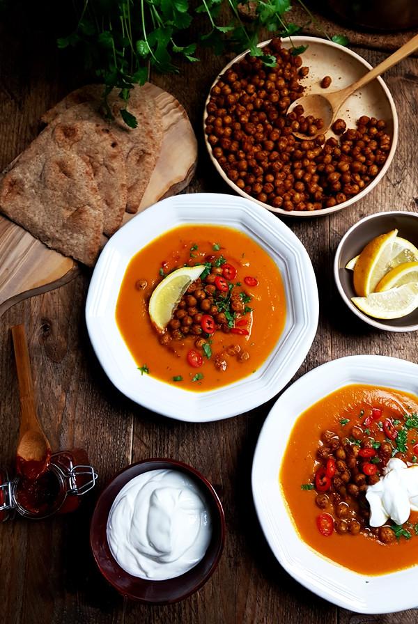 Recept flespompoensoep met geroosterde kikkererwten | Gewoon een foodblog!