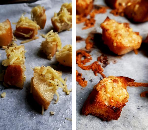 Croutons met kaas maken voor de soep | Gewooneenfoodblog.nl