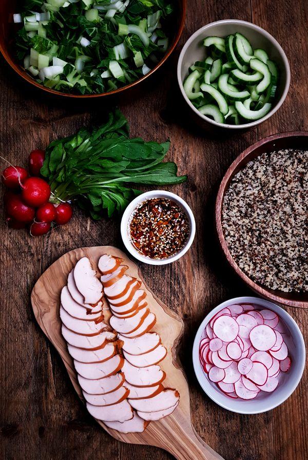 Gesneden ingrediënten voor de paksoisalade | Gewoon een foodblog!