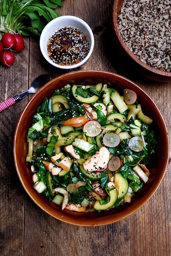 Salade op basis van paksoi met sesamdressing | Gewooneenfoodblog.nl
