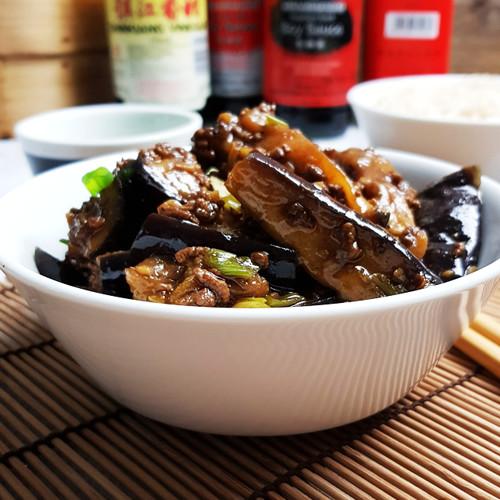 Pittige Szechuan aubergine met gehakt